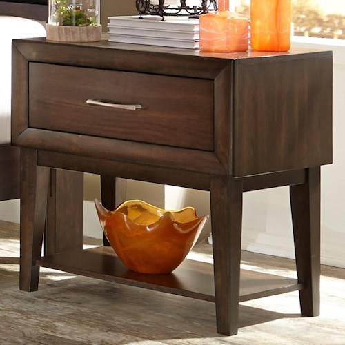Liberty Furniture Hudson Square Bedroom 1 Drawer Night Stand with Shelf