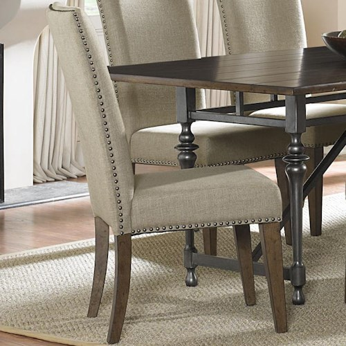 Liberty Furniture Ivy Park Upholstered Side Chair with Nail Head ...