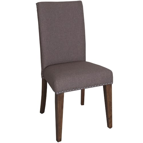 Liberty furniture ivy park upholstered side chair with for Dining room head chairs