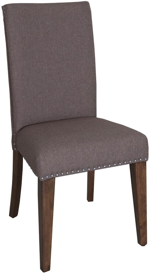 Liberty Furniture Ivy Park Upholstered Side Chair with Nail Head Trim
