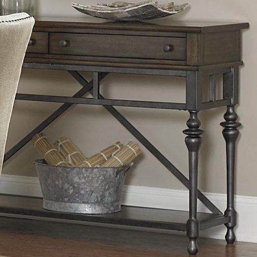 Liberty Furniture Ivy Park Sidebar w/ Metal Stetcher Base