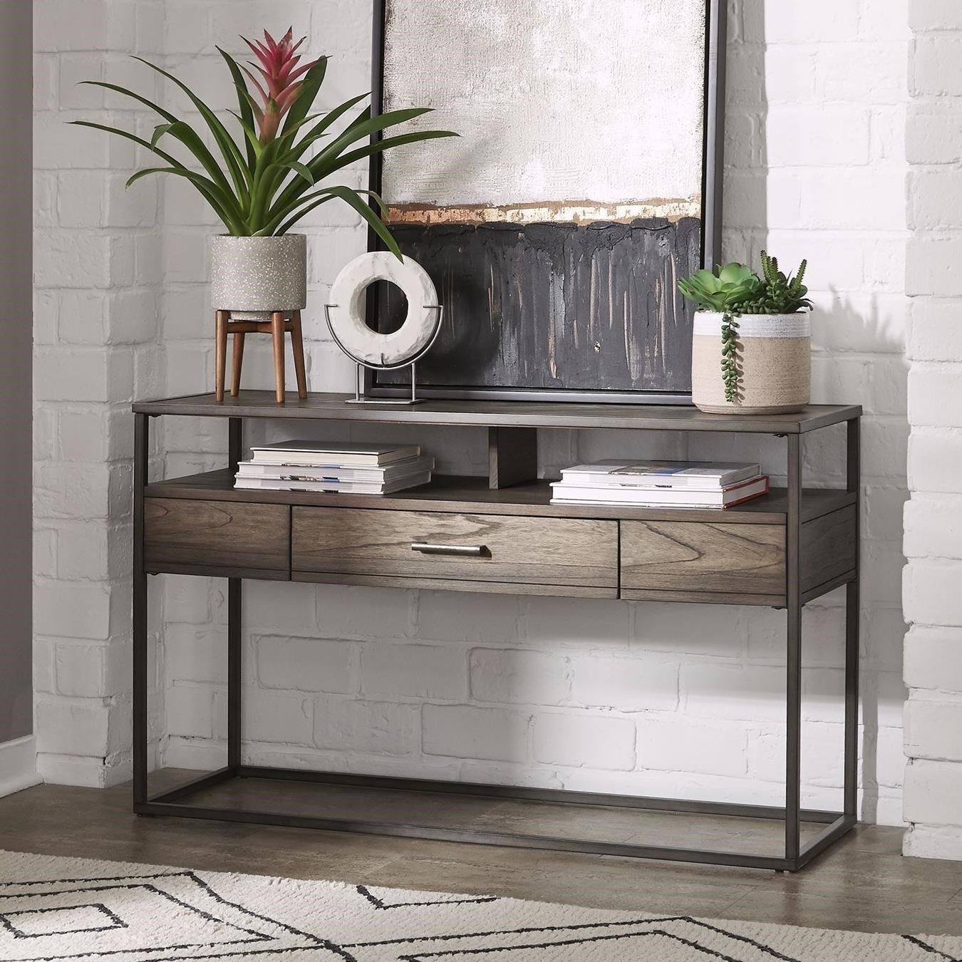 Contemporary Sofa Table with Drawer