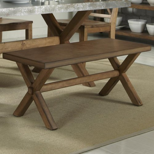 Liberty Furniture Keaton Backless Dining Bench with Trestle Base