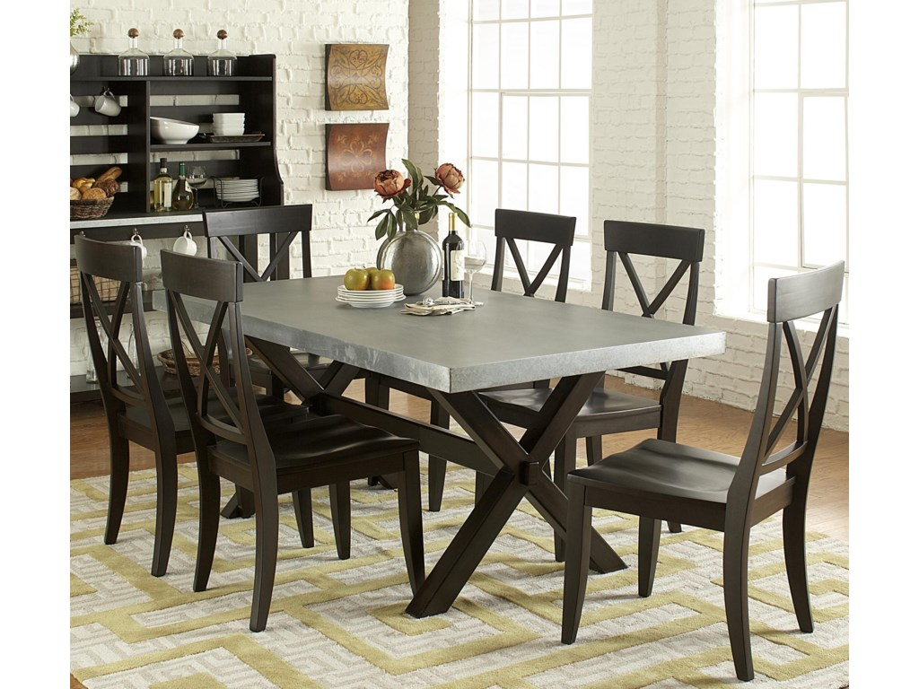 Liberty Furniture Keaton II7 Piece Trestle Table Set
