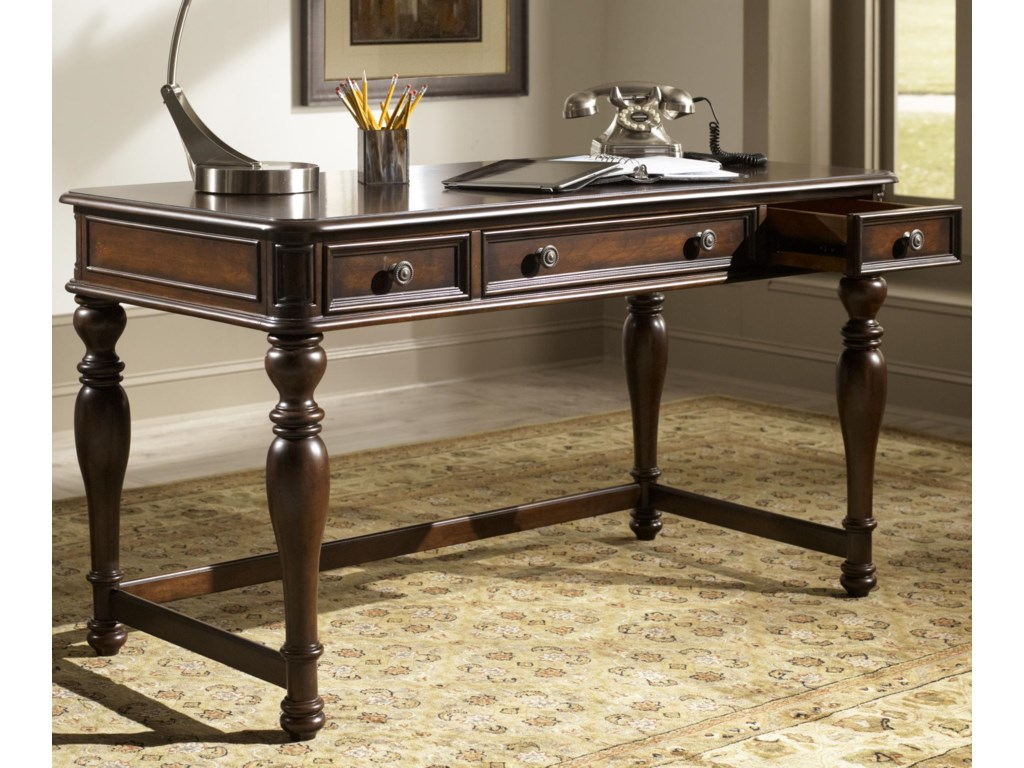 furniture desk brothers win home country brown office desks drawers mathis images writing drawer with quot three in