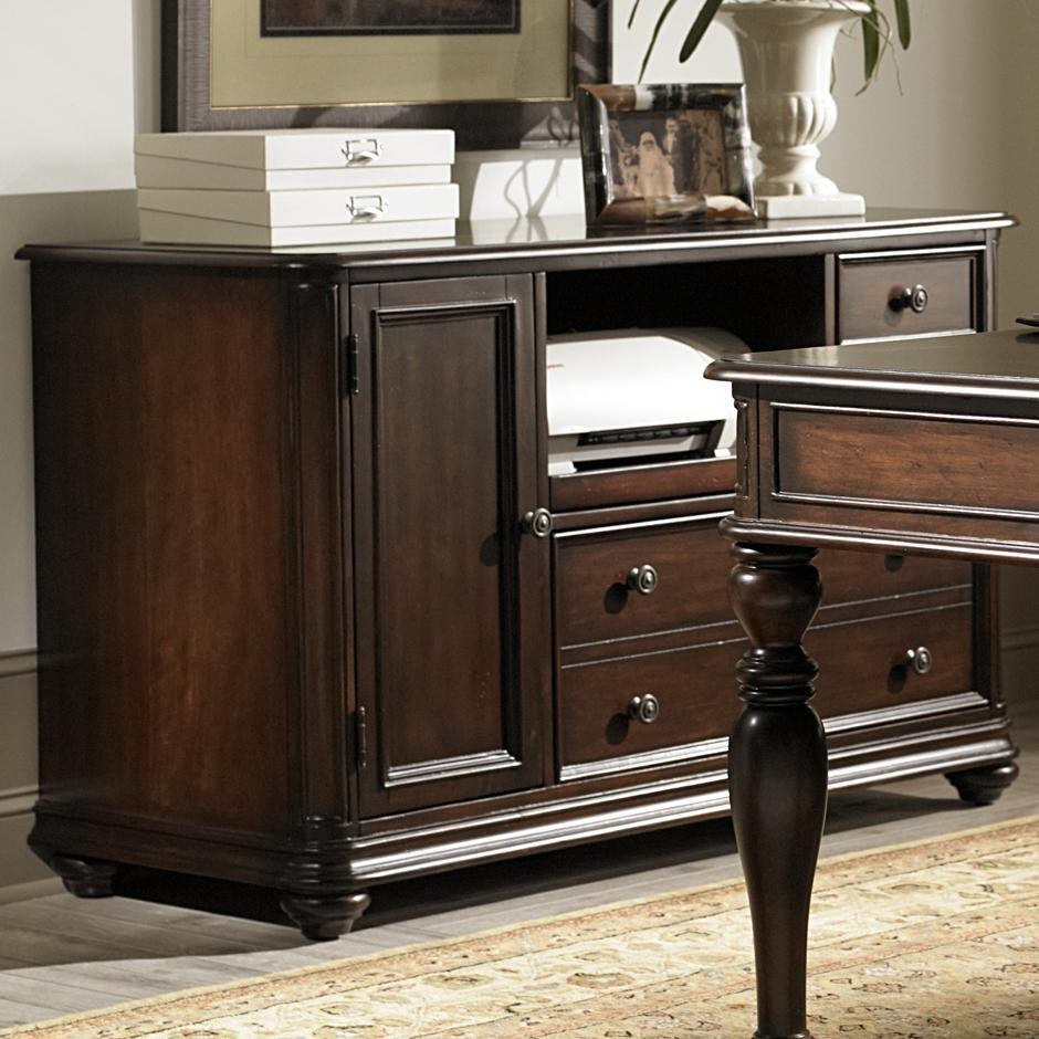 Liberty Furniture Kingston Plantation Credenza With Pull Out Printer Shelf
