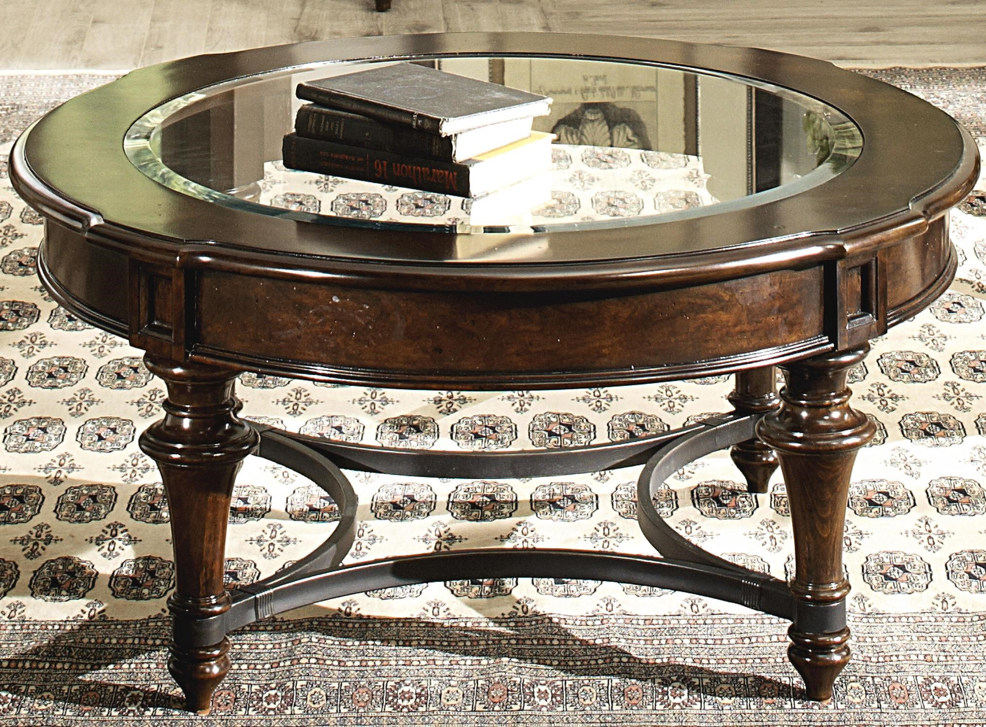 - Liberty Furniture Kingston Plantation Round Cocktail Table With