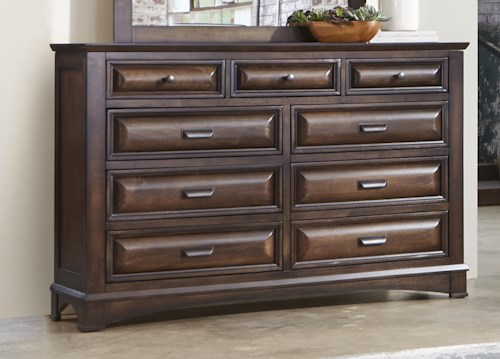 Liberty Furniture Knollwood Dresser with Nine Dovetail Drawers