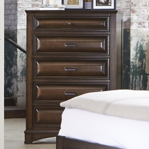 Liberty Furniture Knollwood Chest with Five Dovetail Drawers