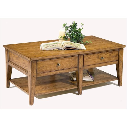 Liberty Furniture Lake House 2-Drawer Cocktail Table