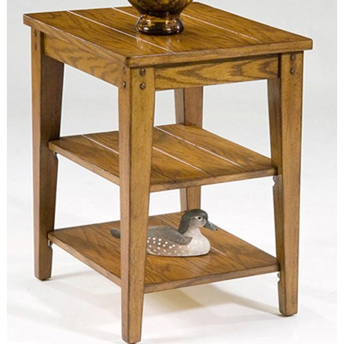 Liberty Furniture Lake House End Table w/ Shelves