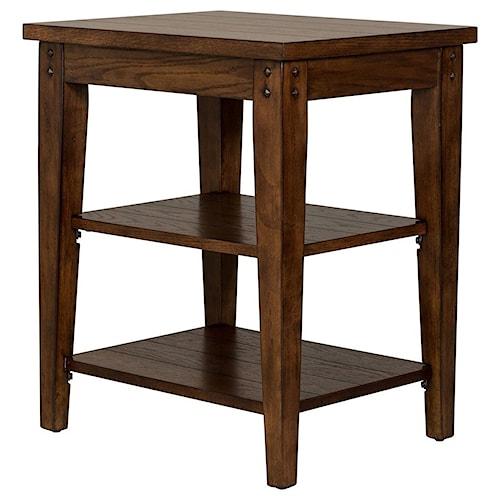 Liberty Furniture Lake House End Table w/ Shelves