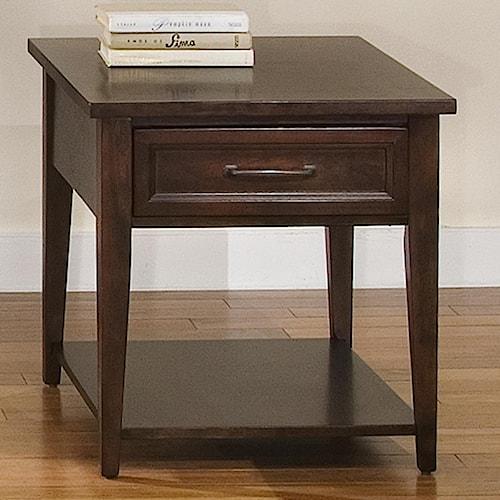 Liberty Furniture Lakewood Rectangle End Table w/ Drawer