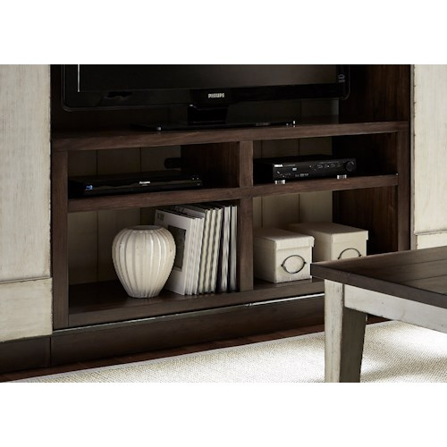 Liberty Furniture Lancaster Entertainment TV Stand with Four Shelves and Wire Management