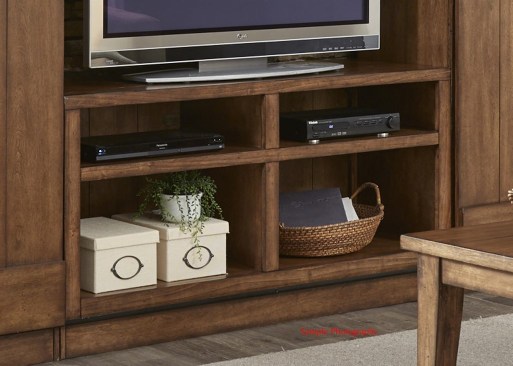 Liberty furniture willow creekentertainment tv stand