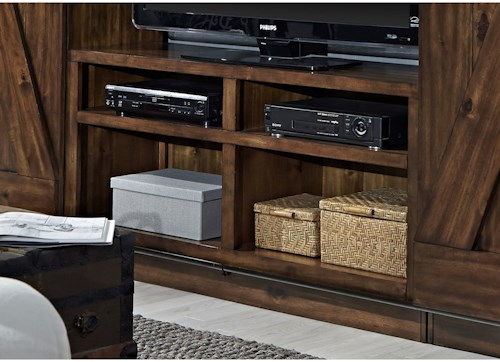Liberty Furniture Lancaster Entertainment TV Stand with Wire Management
