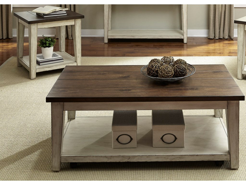 Liberty Furniture LancasterRustic Occasional Table Group