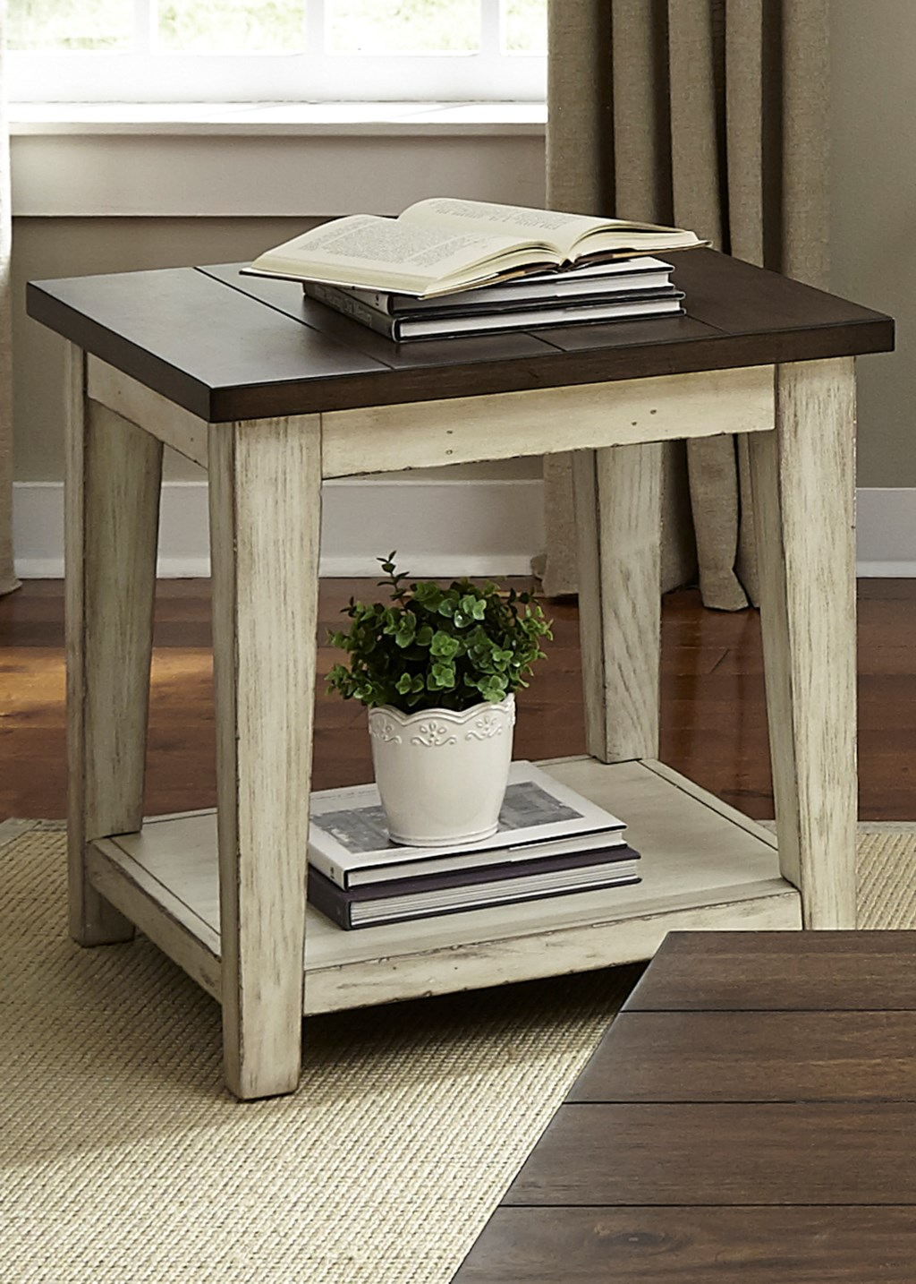 Liberty furniture lancasterrustic end table