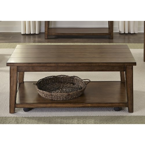 Liberty Furniture Lancaster Cocktail Table with Shelf