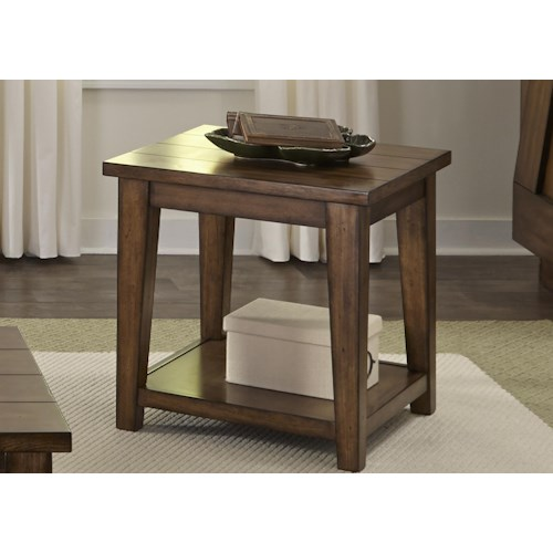 Liberty Furniture Lancaster End Table with Shelf