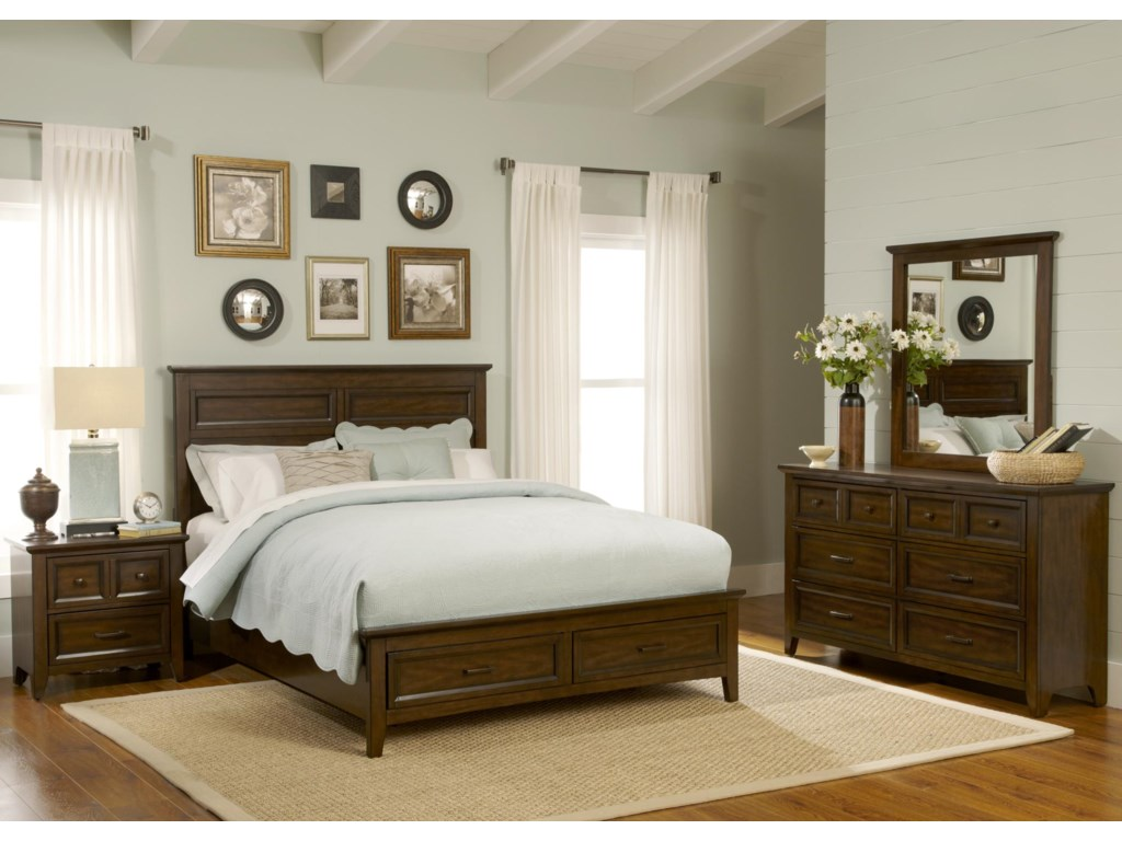 Liberty Furniture Windy Hill4PC Queen Storage Bedroom Set