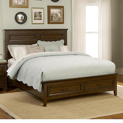 Liberty Furniture Laurel Creek Queen 2-Drawer Storage Bed