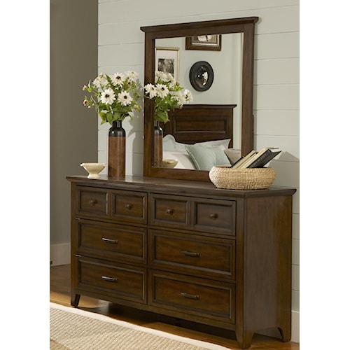 Liberty Furniture Laurel Creek 6-Drawer Dresser & Mirror Set