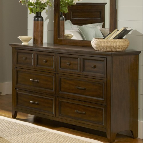 Liberty Furniture Laurel Creek Transitional 6-Drawer Dresser