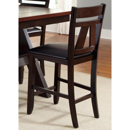 Splat Back Counter Chair