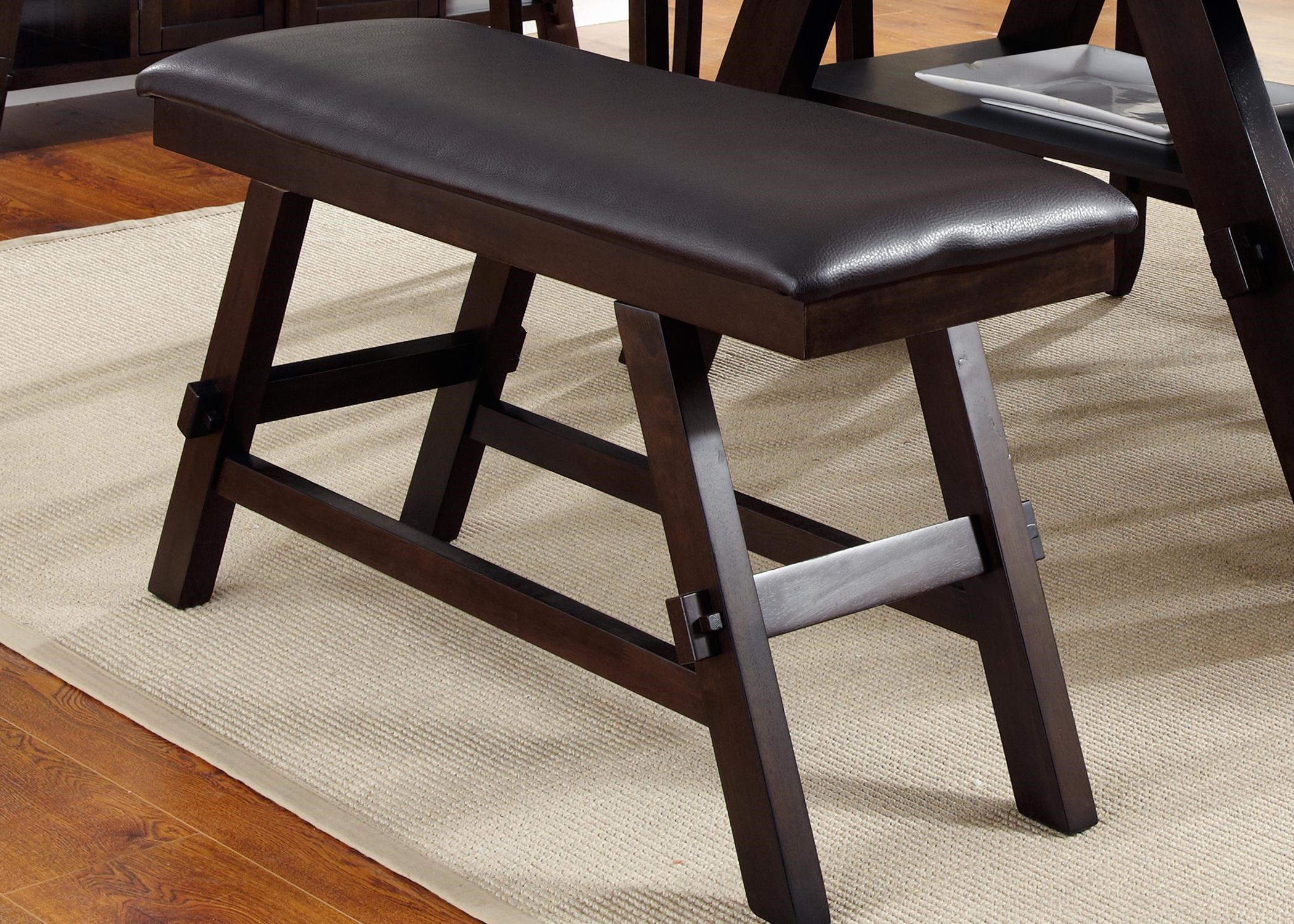 Picture of: Liberty Furniture Lawson Upholstered Counter Height Bench Wayside Furniture Dining Benches
