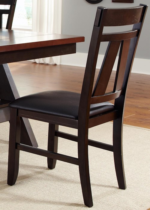 Liberty Furniture Lawson Splat Back Side Chair with Upholstered Seat