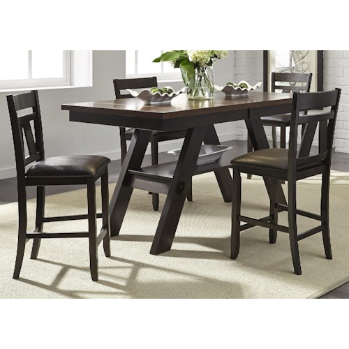Liberty Furniture Lawson 5 Piece Gathering Table Set J J Furniture Pub Table And Stool