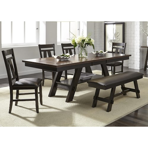 Liberty Furniture Lawson 6 Piece Rectangular Table Set