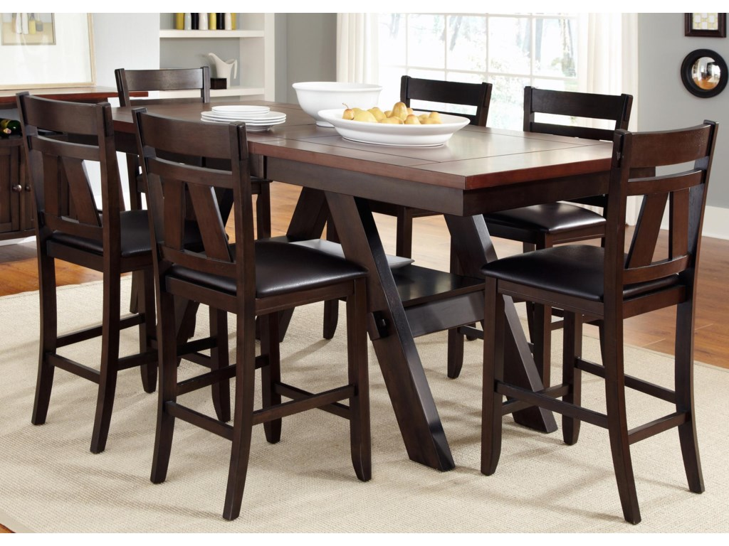 Liberty Furniture LawsonGathering Table with Counter Height Chairs