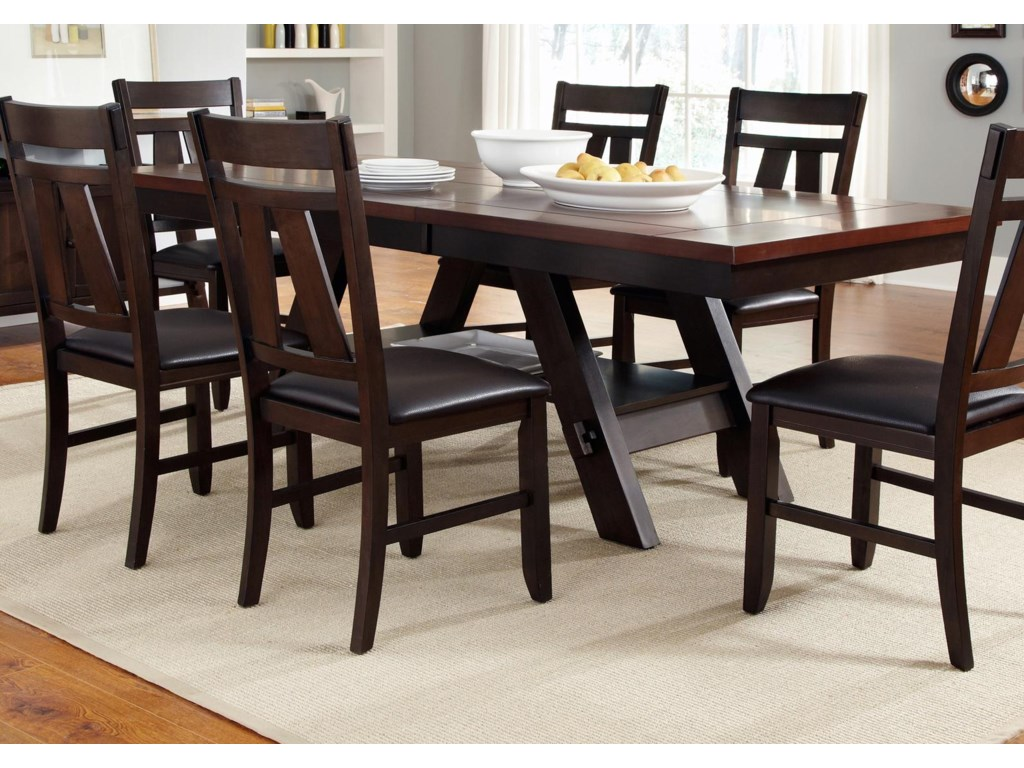 Liberty Furniture Lawson Trestle Rectangular Dining Table Royal Furniture Kitchen Tables