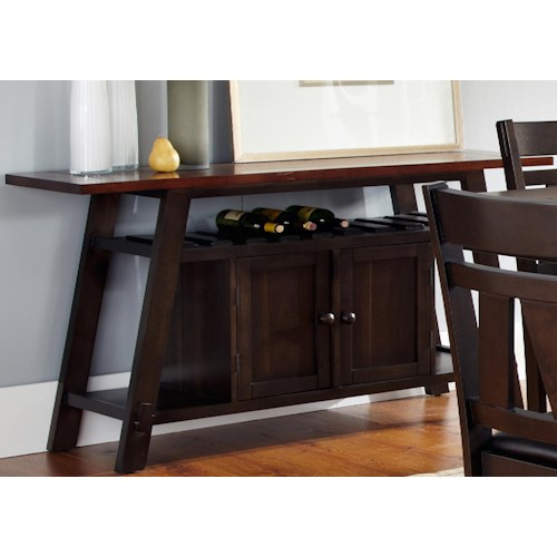 Liberty Furniture Lawson Server with Built-in Wine Storage and Doors