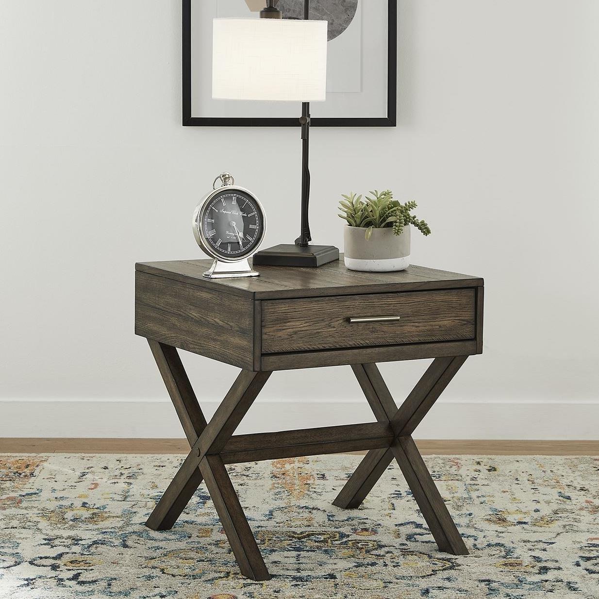 Modern Drawer End Table