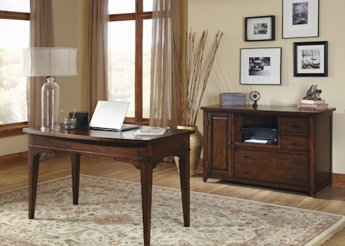 Liberty Furniture Leyton Complete Office Desk and Credenza Suite