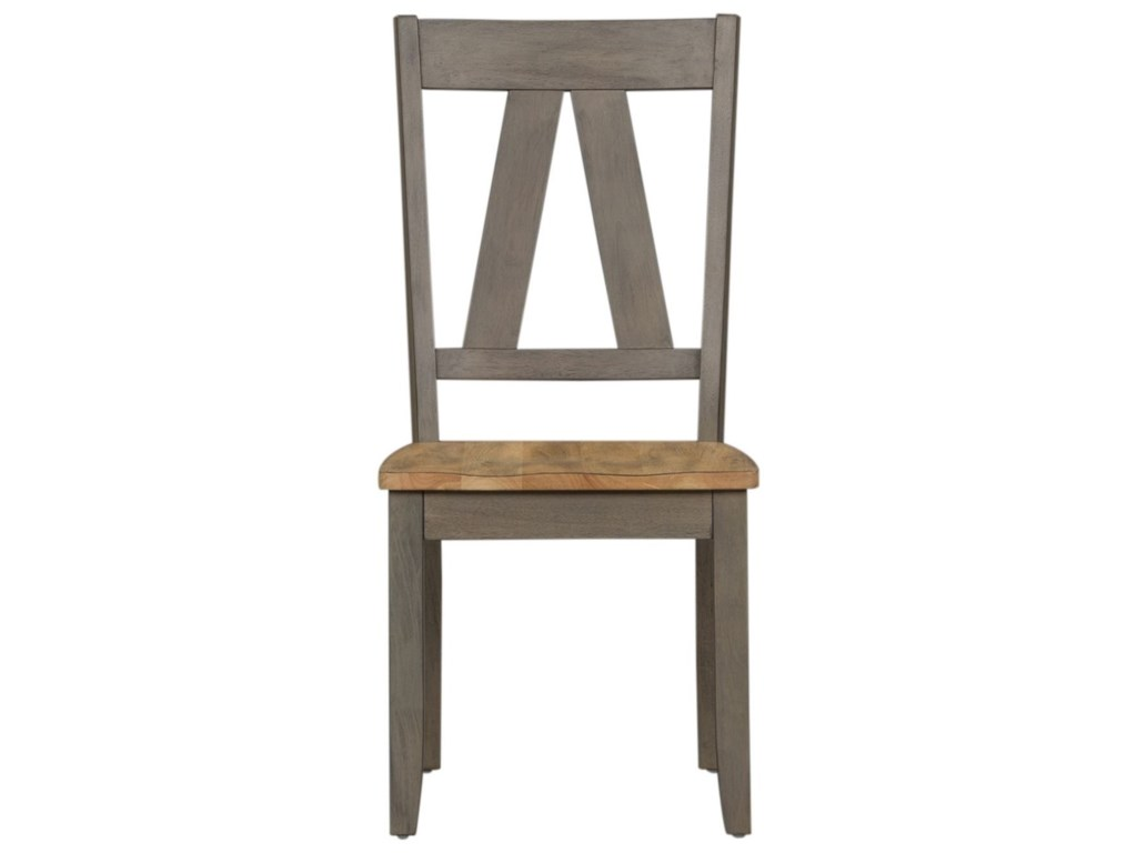 Liberty Furniture Lindsey FarmSplat Back Side Chair