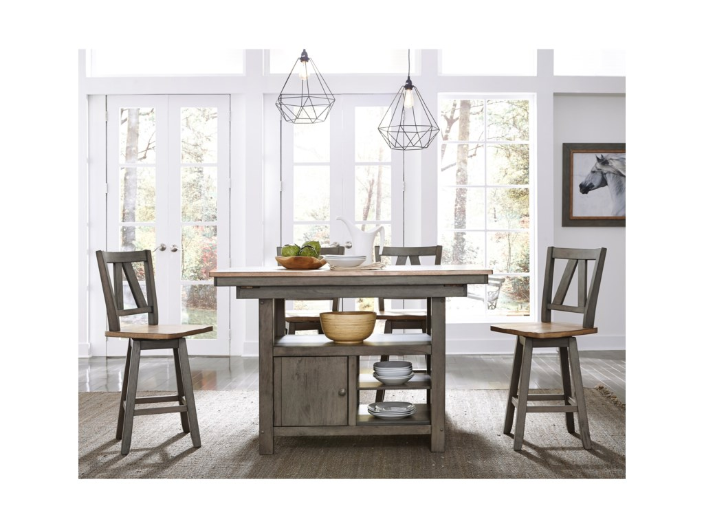 Liberty Furniture Lindsey Farm5-Piece Gathering Table Set