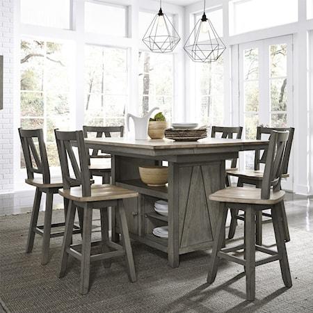 7-Piece Gathering Table Set