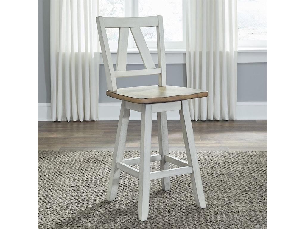 Liberty Furniture Lindsey FarmCounter Height Swivel Chair