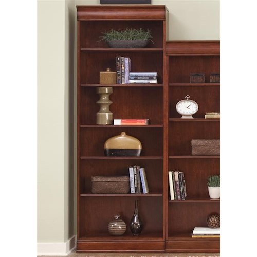 Liberty Furniture Louis Jr Bookcase Transitional Jr Executive 84 Inch Bookcase