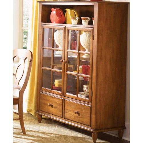 Liberty Furniture Low Country Curio Cabinet with Touch Lighting