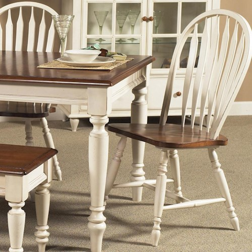 Liberty Furniture Low Country Windsor Back Side Chair with Turned Legs
