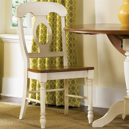 Low Country Napoleon Back Side Chair With Turned Legs