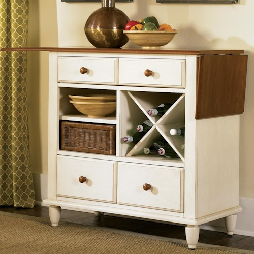 Liberty Furniture Low Country Server with Removable Wine Rack