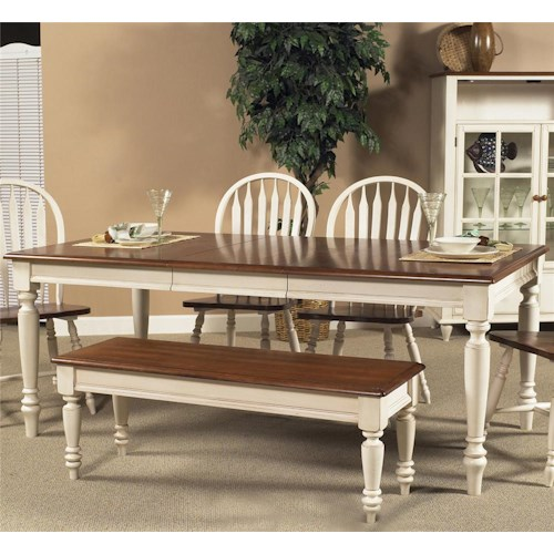 Country Dining Table With Bench: Liberty Furniture Low Country Rectangular Dining Table