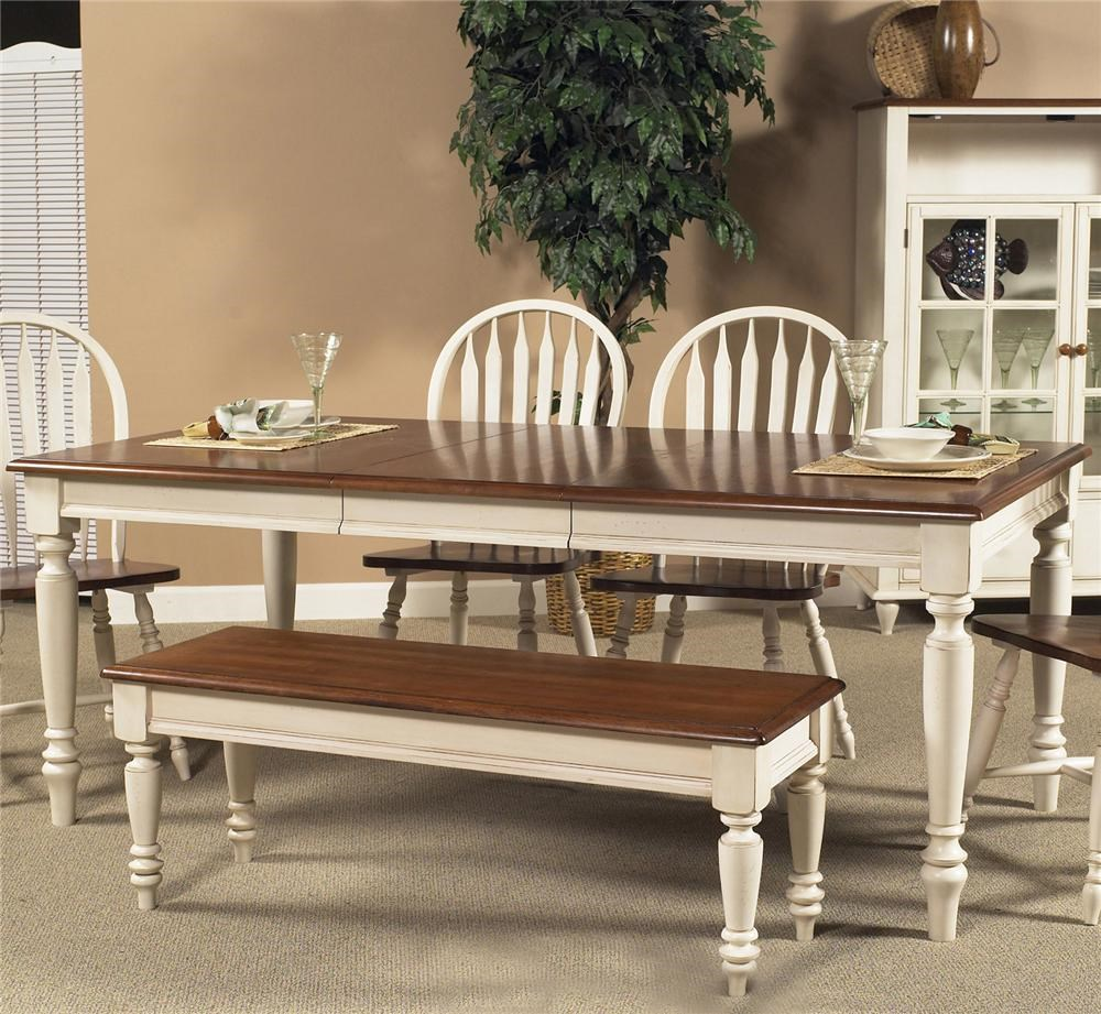 Liberty Furniture Low Country Rectangular Dining Table With Turned Legs    Novello Home Furnishings   Dining Tables