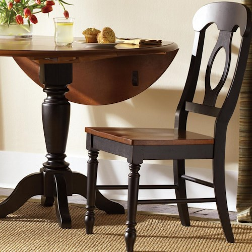 Liberty Furniture Low Country Napoleon Back Side Chair with Turned Legs
